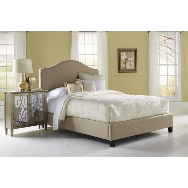 Shop Beige Queen Size Upholstered Bed - On Sale - Free Shipping