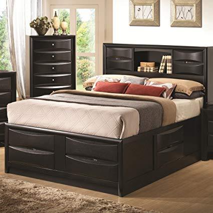 Amazon.com: Coaster Eastern King Storage Bed B1-Black: Kitchen & Dining