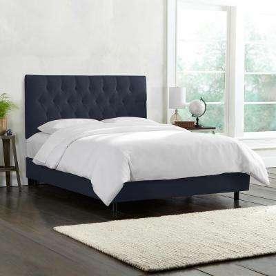 Blue - Upholstered Headboard - California King - Beds & Headboards