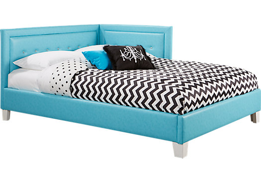 Lucie Blue 4 Pc Twin Corner Bed