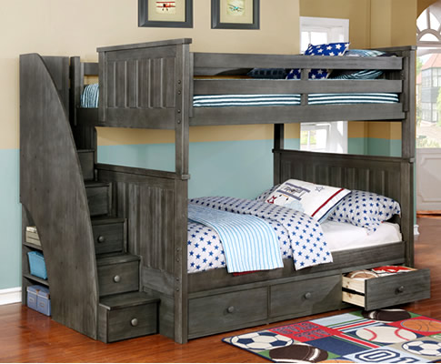 Full/Full Jordan Bunk Bed | Rooms4Kids