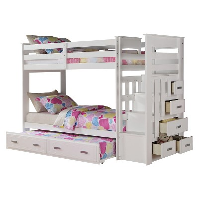 Allentown Kids Bunk Bed - White(Twin/Twin) - Acme : Target