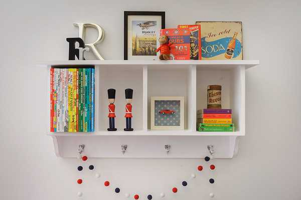 Contemporary Children Shelf Willow Wood For Beautiful Child Storage