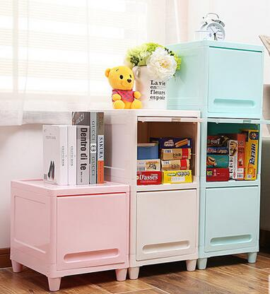 Multilayer storage cabinets drawers Children's shelves simple