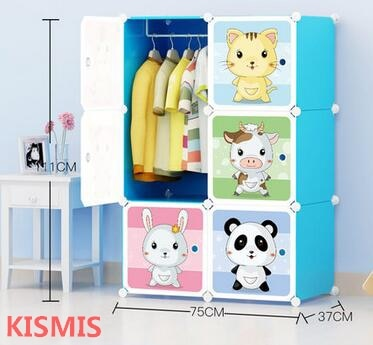 Children wardrobe baby wardrobe baby child wardrobe locker cartoon