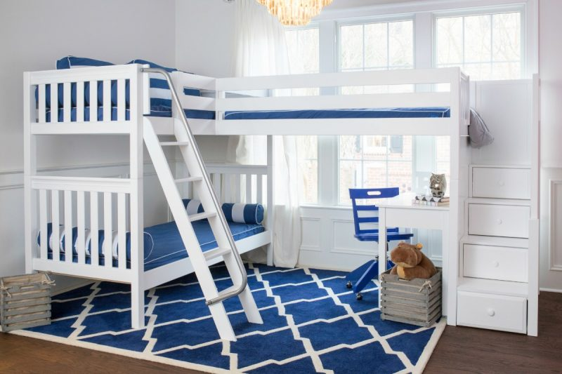 Combine Two or More Beds: Corner Lofts, Triple & Quad Bunks