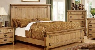 Furniture of America IDF-7449Q Mallon Country Style Plank Queen Bed