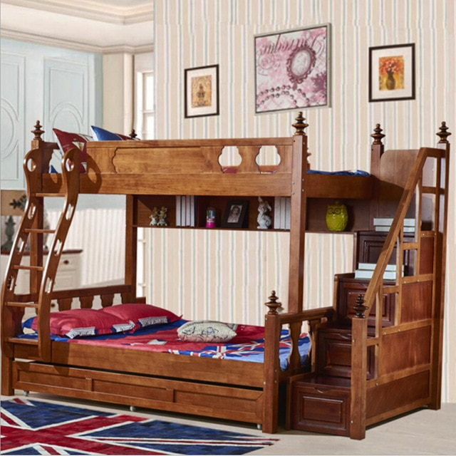Webetop American Country Style Bunk Bed Mother & Son Bed Double Type