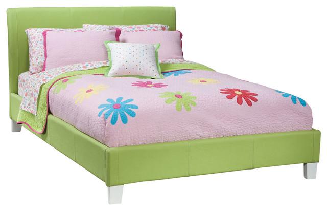 Standard Furniture Fantasia Upholstered Platform Bed in Green
