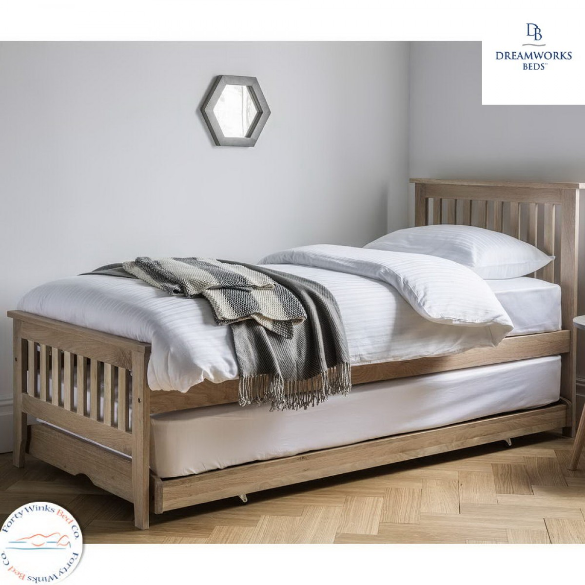 guest beds dreamworks banbury solid oak pull out guest bed mvuaxhh cihhbaa