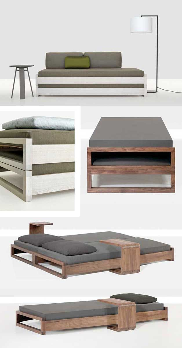Simple stacking guest bed (king-size or twin) - DIY Project