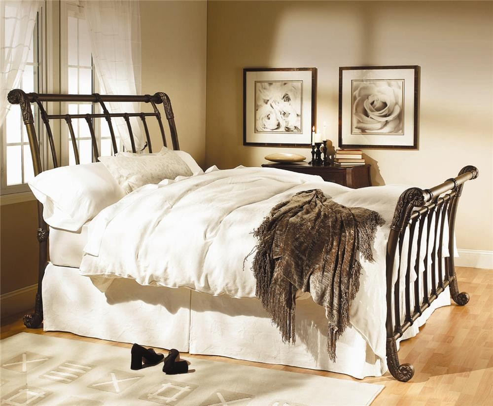 Wesley Allen Iron Beds Brookshire Iron Sleigh Bed | Boulevard Home