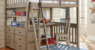Shop Highlands Collection Driftwood Full-size Loft Bed, Dresser, and