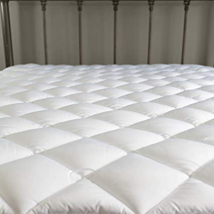 Amazon.com: DONWLITE 100-200 Thread Count Irregular Mattress Pad