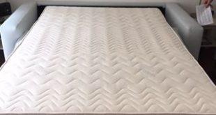 Bed sofa 140 cm x 200 cm x 17 cm deep mattress. Luxurious sleep