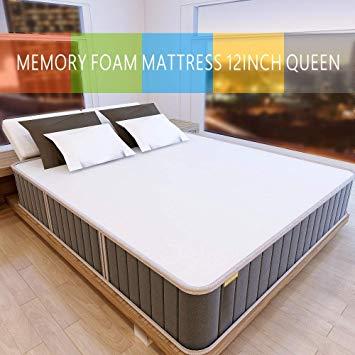 Amazon.com: Milemont 12-Queen Memory Foam Mattress Gel Infused