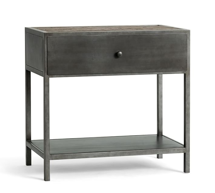 Big Daddy's Antiques Metal Nightstand | Pottery Barn