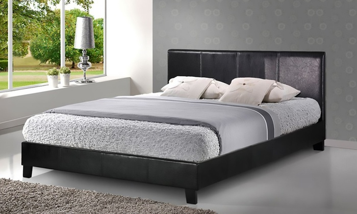 Sicily Modern Faux Leather Bed