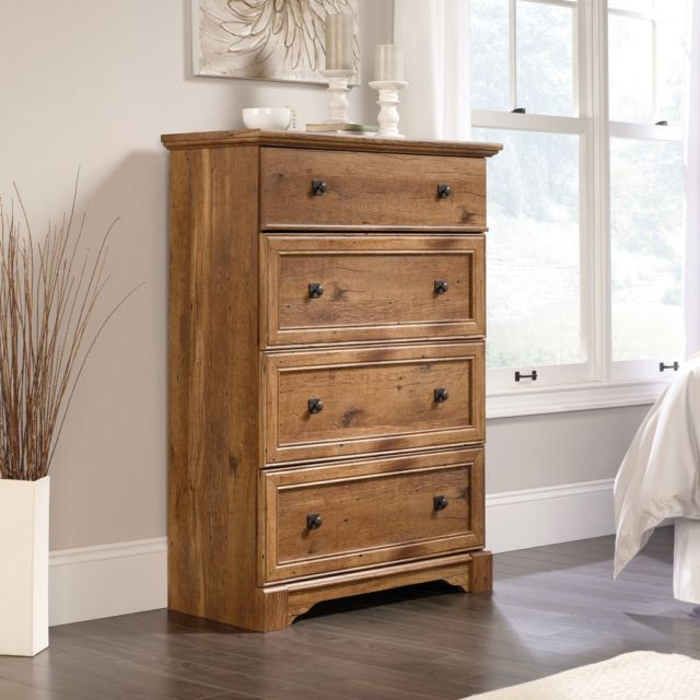 Sauder Palladia 4 Drawer Bedroom Chest Oak | eBay