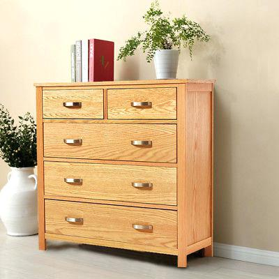 Solid Wood Bedroom Chest Of Drawers Storage Solid Oak Chest Of