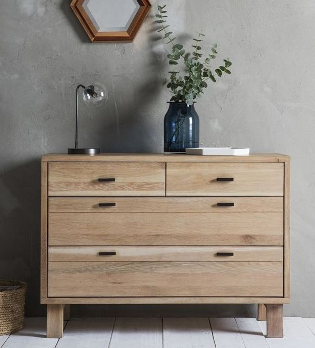 Hudson Living Kielder Oak Chest of Drawer - 2+2 Drawer | Do Want