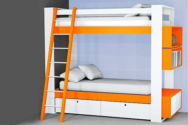 Bed Ideas: Astonishing Awesome Bedroom Design White Orange