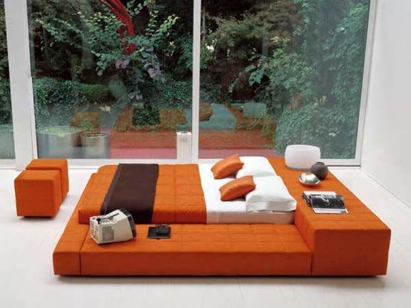 20 Modern Bed Designs That Appeal | Pinterest | Bed design, Orange