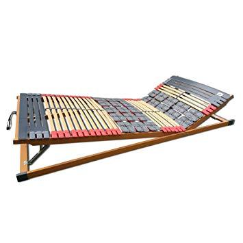 Plate Slats 7 Zones Adjustable Rhodes Comfort KF Slatted Frame 140 x 200 cm