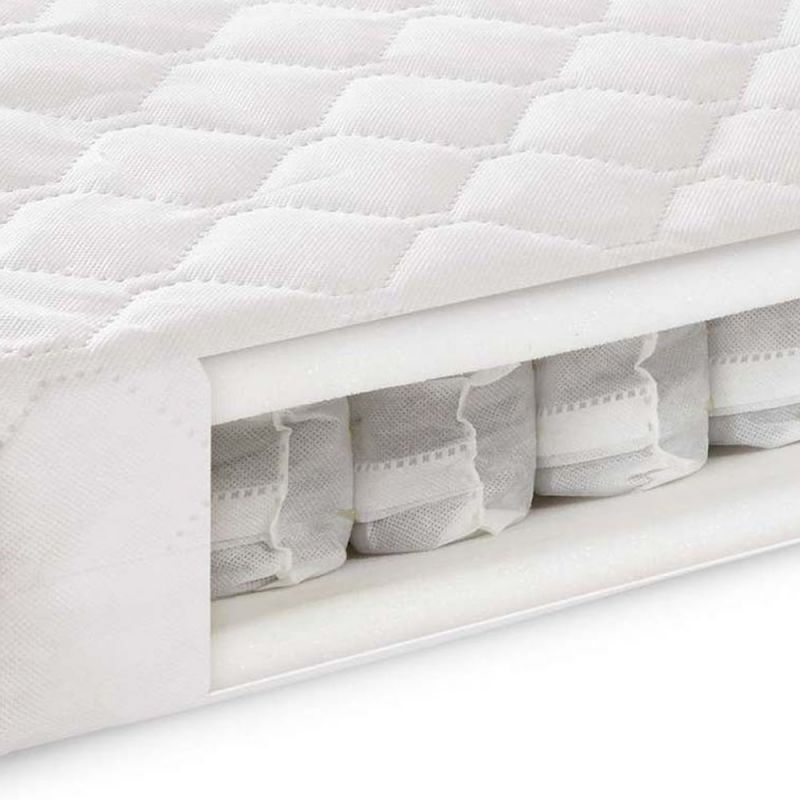 pocket sprung mattress kiddies kingdom deluxe cotbed pocket sprung mattress  140x70 rest assured pocket sprung mattress