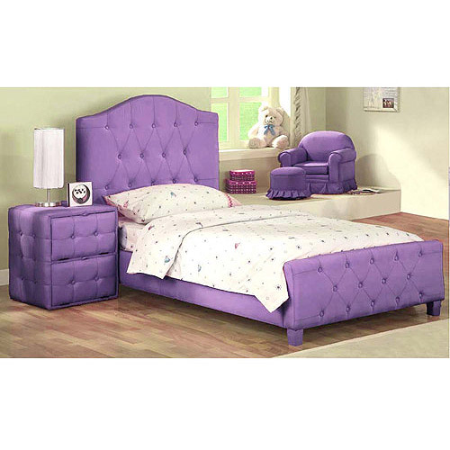 New Diva Upholstered Twin Bed, Purple u2013 $150 | New Diva Upholstered