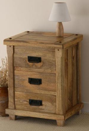 Solid Wood Bedside Table, Cabinet, Indian Wood Furniture