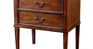 Amazon.com: Dlili American Solid Wood Bedside Table Retro Simple