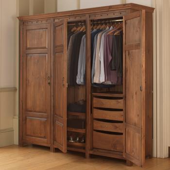 Luxury 3 Door Wardrobe in Solid Wood - Handmade in the UK | Revival Beds