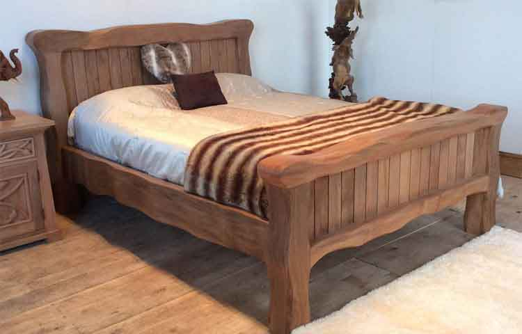 Solid Wood Double Bed Frame | Tinytipsbymichelle.com