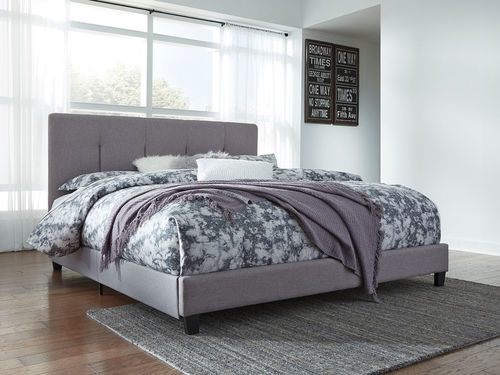 The Contemporary Upholstered Beds Gray King Upholstered Bed