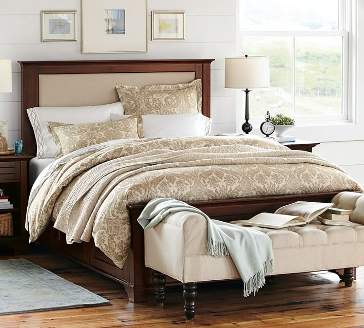 Cynthia Upholstered Storage Bed | Pottery Barn