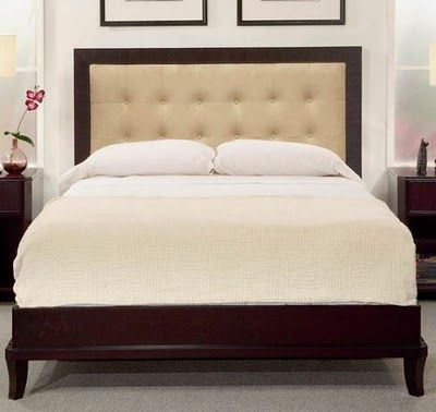 Upholstered Headboard With A Wood Frame   furniture decor