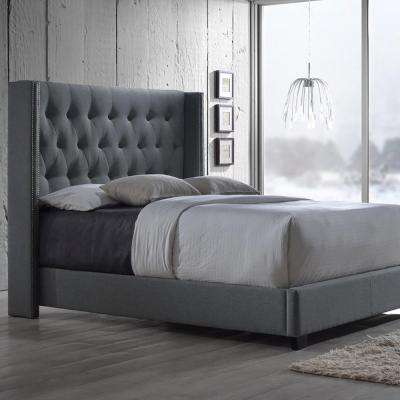 Full - Gray - Upholstered Headboard - Beds & Headboards - Bedroom