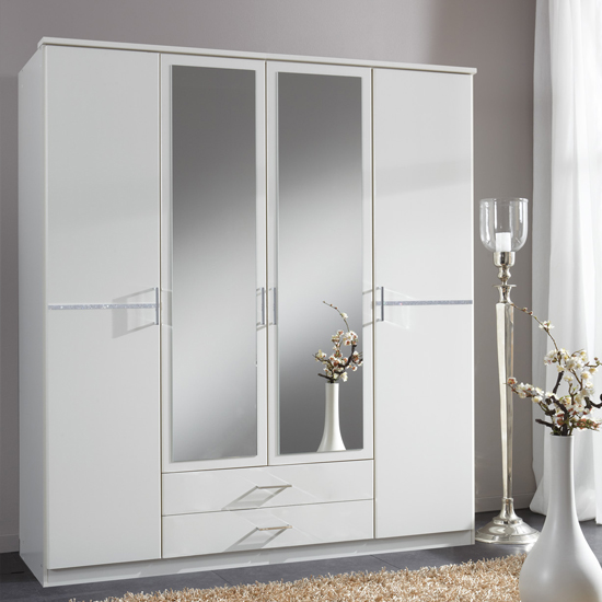 White Mirrored Wardrobes : Interior - www.getcomfee.com