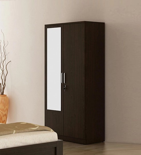 Buy Kosmo Weave Two Door Wardrobe with Mirror & Drawer in Vermount