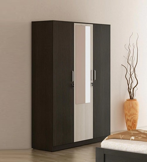 Buy Kosmo Delta Three Door Wardrobe with Mirror & Drawer by