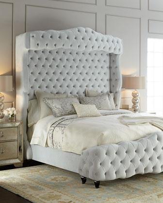 Haute House Grand Chez Tufted White Beds