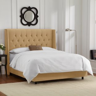 Upholstered Yellow Beds You'll Love | Wayfair