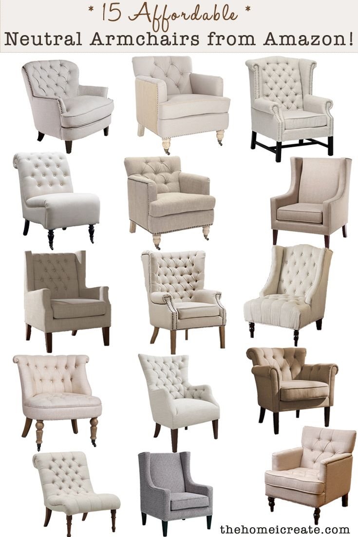 15 Affordable neutral armchairs from Amazon! A couple are even under $200!
