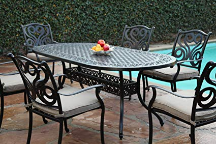 CBM Outdoor Cast Aluminum Patio Furniture 7 Pc Dining Set G CBM1290