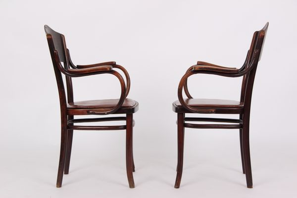 Antique Armchairs from Thonet, Set of 2 3