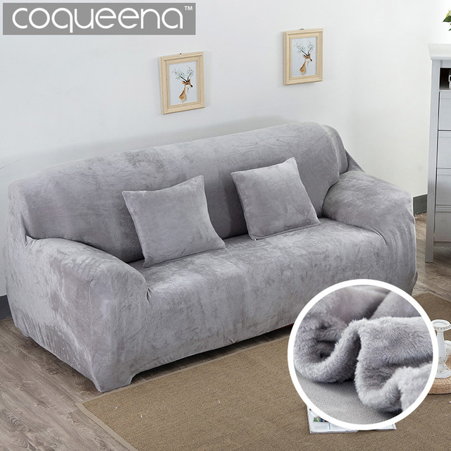 Super Soft Stretch Thick Plush Sofa Slipcover Couch Armchair Covers  Furniture Seater Protector for Winter &