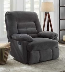 Image is loading Big-amp-Tall-Gray-Massage-Recliners-Grey-Armchair-