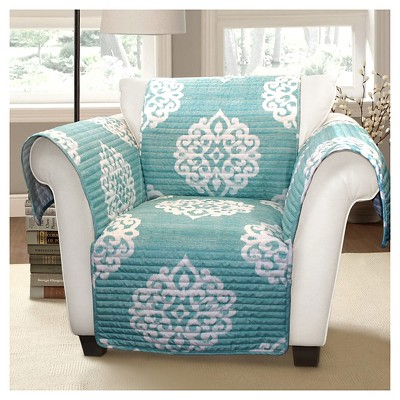 Blue Sophie Furniture Protector Blue Armchair Slipcover : Target