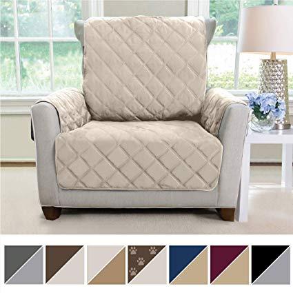 Amazon.com: MIGHTY MONKEY Premium Reversible Chair Slipcover, Seat